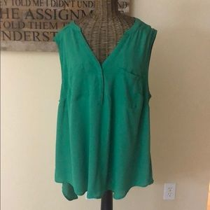Torrid Kelly Green Sleeveless Top Tunic 1 1X